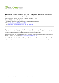 Taxonomic circumscription of the N African endemic Biscutella ...
