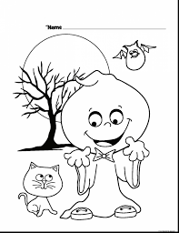Drawn Ghost Halloween Coloring Page To Print Pages Of Ghosts And