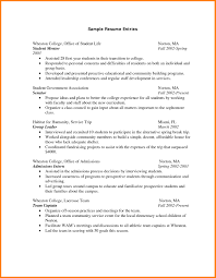 Gallery Of Resumes For College Graduates