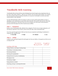 Define Transferable Skills Transferable Skills Inventory