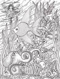 Fish Ocean Octopus Water Coloring Pages Colouring Adult Detailed