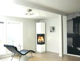 corner fireplace wood burning