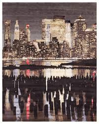 modern rug texture. Modern-Impressionist-Rug-NY-Skyline.jpg Modern Rug Texture