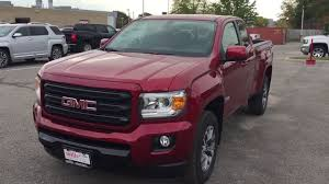 2018 gmc canyon all terrain extended cab v6 engine spray on liner red oshawa on stock 180217