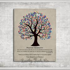 personalized gift for pastor wedding thank you easter gift multi color tree of life custom art