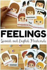 Spanish Feelings Chart Printable Spanish Feelings Flashcards Look Were Learning
