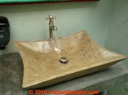 cultured stone or cultured marble lavoratory sink c inspectapedia com daniel friedman sink choices materials