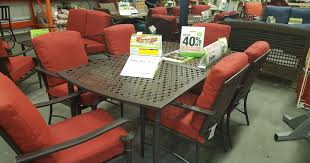 home depot hampton bay 7 piece outdoor dining set only 399 delivered more hip2save