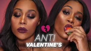 valentine s day or anti valentines day makeup tutorial brown dark skin w toniamakeup eng you