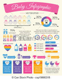 Baby Child Infographic Presentation Template With Charts And Newborn