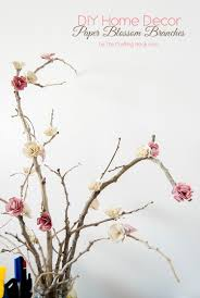Paper Flower Branches Diy Home Decor Paper Flowers Blossom Branches The Crafting Nook