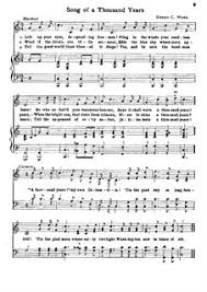 a thousand years piano sheet music song of a thousand years by h c work sheet music on musicaneo