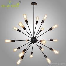 vintage industrial loft iron light sputnik chandelier restaurant bar hanging light diy spider bar lights e27 8 12 15 16 18 20 heads pendant lamp parts wood