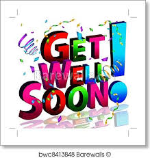 Get Well Soon Poster Get Well Soon Message Art Print Poster