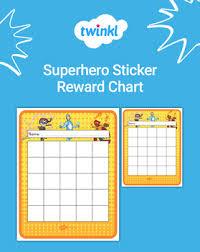 Free Superhero Sticker Reward Chart By Twinkl Teaching Resources