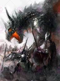 amazon warrior art. Modren Art PAINTING ILLUSTRATION FANTASY DRAGON BATTLE MEDIEVAL WARRIOR ART PRINT  MP5367A With Amazon Warrior Art Y
