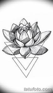 черно белый эскиз тату лотос 09032019 043 Tattoo Sketch