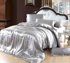 california king white duvet cover silver bedding sets grey silk satin king size queen in double