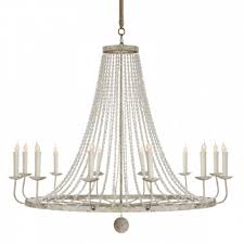 naples large white chandelier from aidan gray in an intermingling of rustic white and gray finishes
