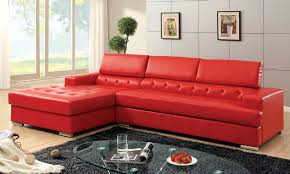 red leather furniture. Beautiful Leather Hokku Designs Red Leather Sectional With Partially Tufted Upholstery To Furniture O