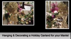 how to decorate a mantel with a holiday garland