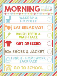Free Morning Routine Printable Morning Routine Printable