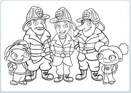 Small Picture Firefighter coloring pages with kids ColoringStar