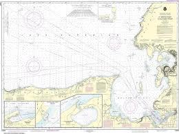 Noaa Nautical Chart 14962 St Marys River To Au Sable Point Whitefish Point Little Lake Harbors Grand Marais Harbor