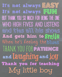 Free Printable For A Teacher To My Sons Teachers Thank You I