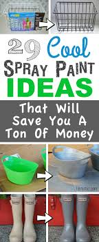 Lots of Awesome and Easy DIY spray paint ideas for