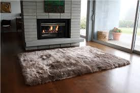 grey furry 4 6 rugs for modern living room decor