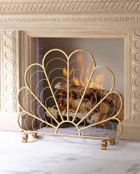 considerable italian iron shell decorative fireplace screen screens neiman marcus used victoria fullsize small indoor gas free standing vent fake mantle