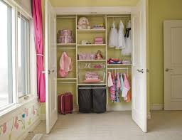 nice pink window curtain mixed with small walk in closet design and flower wall decal large
