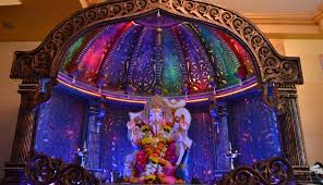 ganpati decorations and the decked up pandals ganpati tv