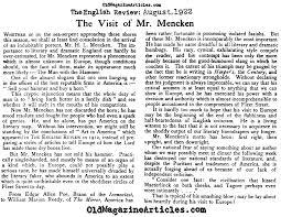 mencken essays hl mencken essays