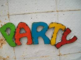 party 3d metal sign decorative wall art colored letters 13
