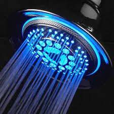 function color changing led shower head