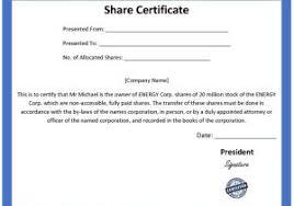 Template Share Certificate Shareholders Certificate Template Free 21 Share Stock Certificate