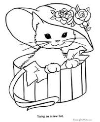 Small Picture Cat Colouring Pages Printable Coloring Pages