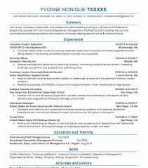 Inventory Control Resume Mesmerizing Inventory Control Specialist Resume Sample LiveCareer