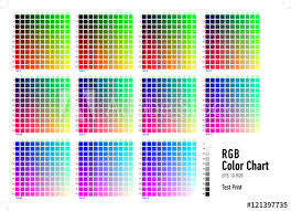 Rgb Press Color Chart Buy This Stock Vector And Explore