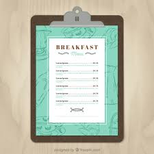 breakfast menu template breakfast menu template vector free download
