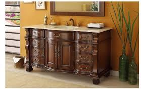 adelina 60 inch antique style bathroom vanity cream marble top