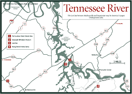 Tennessee River Navigation Charts Topographic Map Of Tennessee Lakes Images Map Of Tennessee