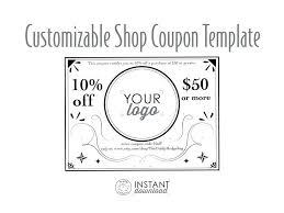 10 Off Coupon Template Customizable Coupon Template