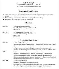 sample retail resume template sample template for resume