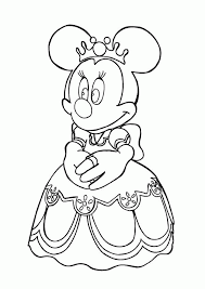 Princess Minnie Mouse Coloring Page Download Print Online