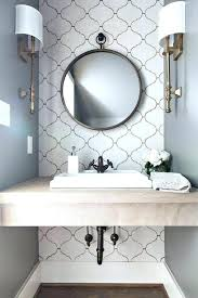round beveled bathroom mirror wall large mirrors back to vanity with powder room transitional and