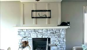 how to install stacked stone fireplace stacked