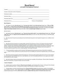 Wedding Band Contract Template – Mobstr
